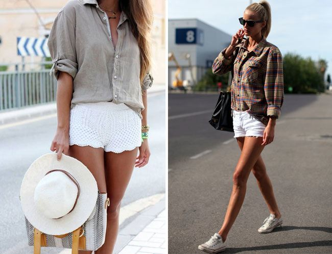 loose fit of the boyfriend shirt