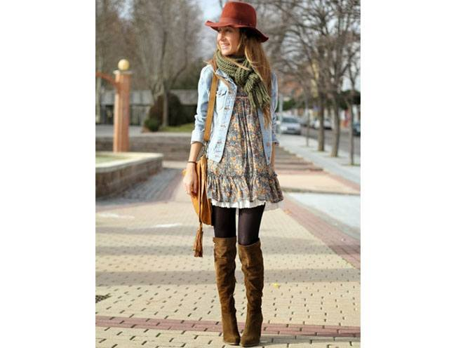 loral summer dress in winter