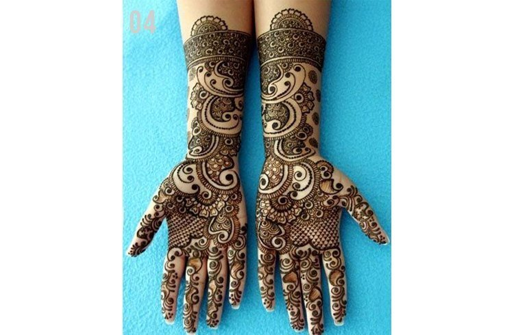Marwari pattern mehndi designs