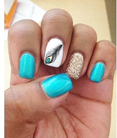 50 peacock nail art design ideas beautiful peacock nail designs prinsesfo Images