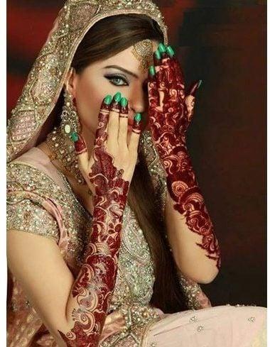 Pakistani bridal mehendi designs