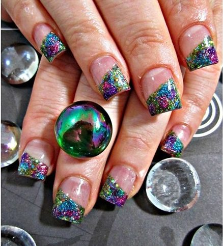 Peacock Design Nail Art Ideas