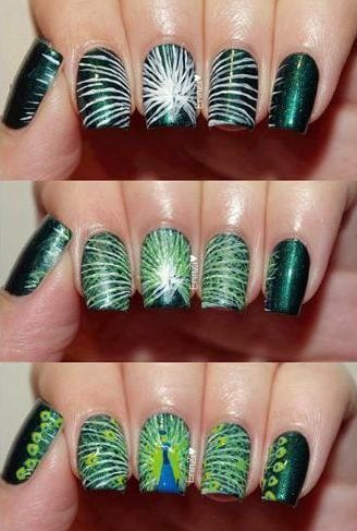 Peacock Nail Art Ideas