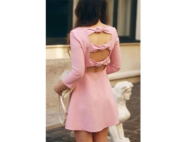 sexy bow back dress