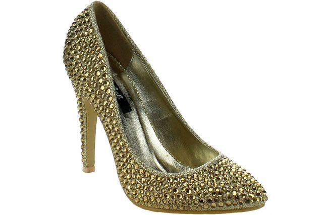 Bonnibel Women's 'Jewel-1' Rhinestone-studded Pumps