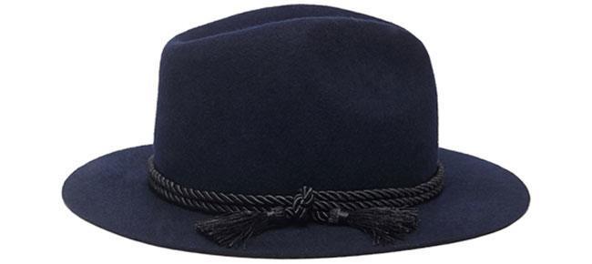 Cord Tassel Wool Fedora