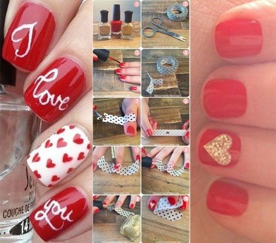 DIY Nail Art Valentines