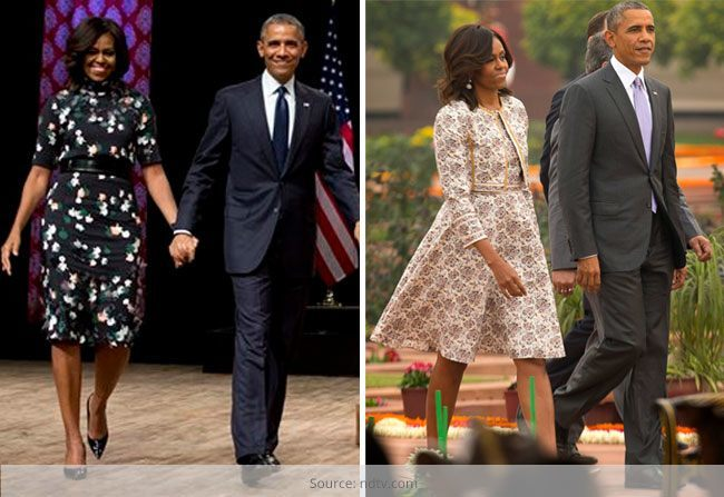 Michelle Obama Enchants With Style in India