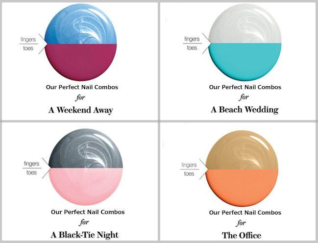 41dc3a33efc0 A Mani-Pedi Chart for Unusual and Awesome Colour Combinations