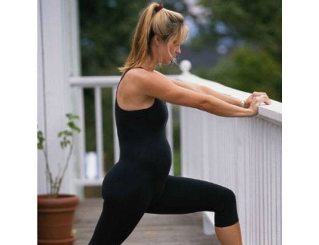 Prenatal stretching exercises
