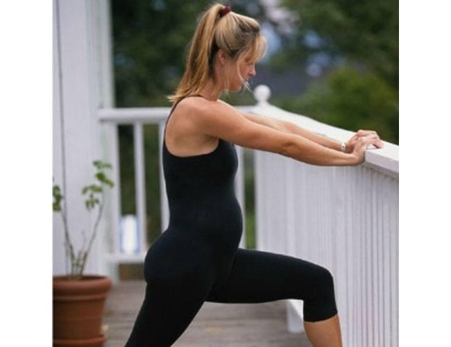 Prenatal stretching exercises