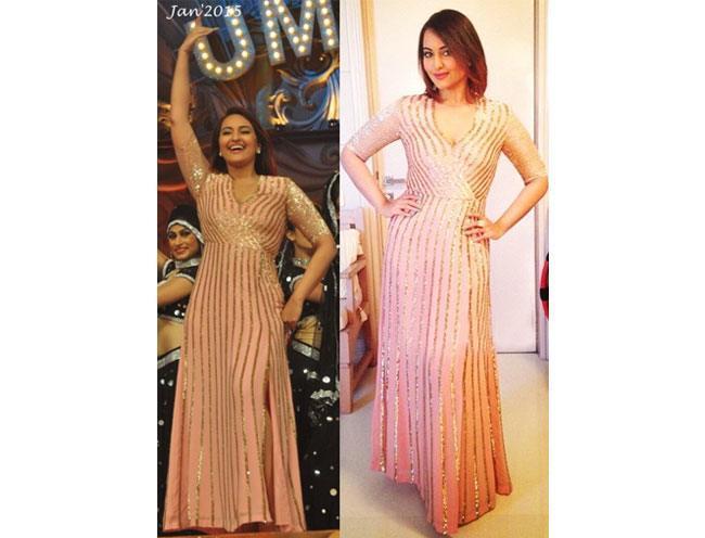 Sonakshi Sinha in a sexy wrap dress