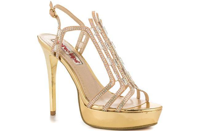 Two Lips Lady Gold Women Shoes