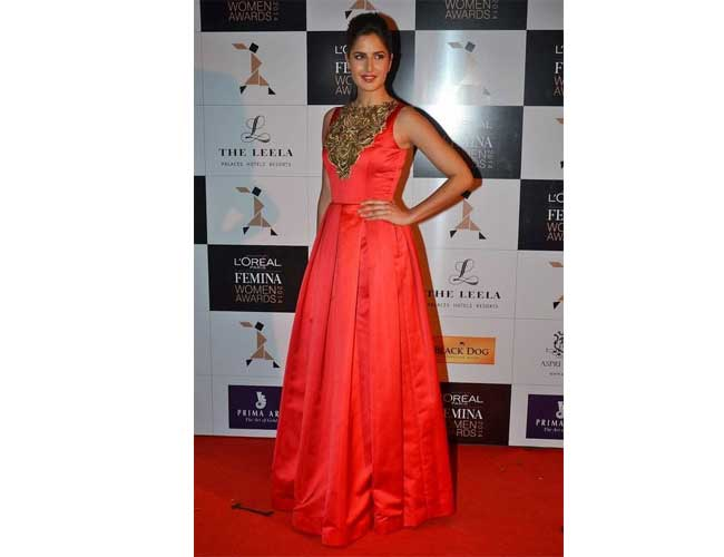 Katrina Kaif in Naeem Khan Gown
