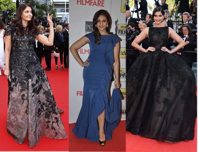 Evening Gowns Worn By Top Bollywood Celebrities On The Red