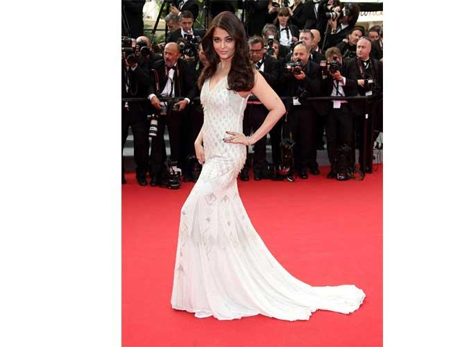 Aishwarya Rai Bachchan in Roberto Cavalli White Gown