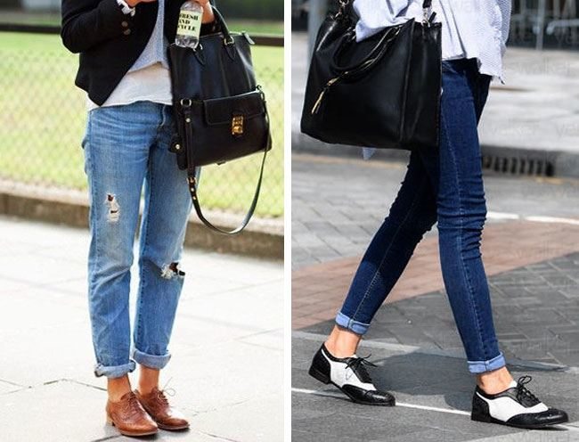 With Rolled up Jeans