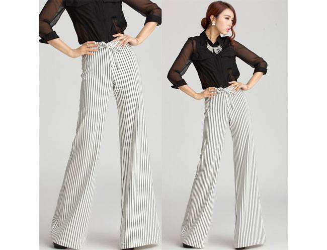 With classic pants
