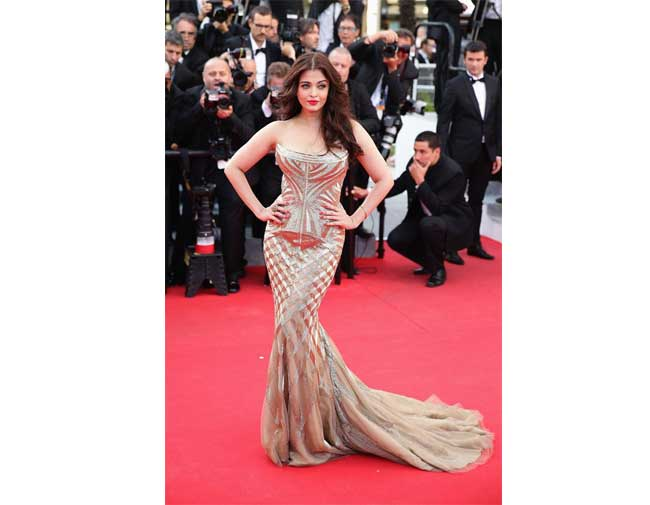1. Aishwarya Rai Bachchan in Roberto Cavalli Gown