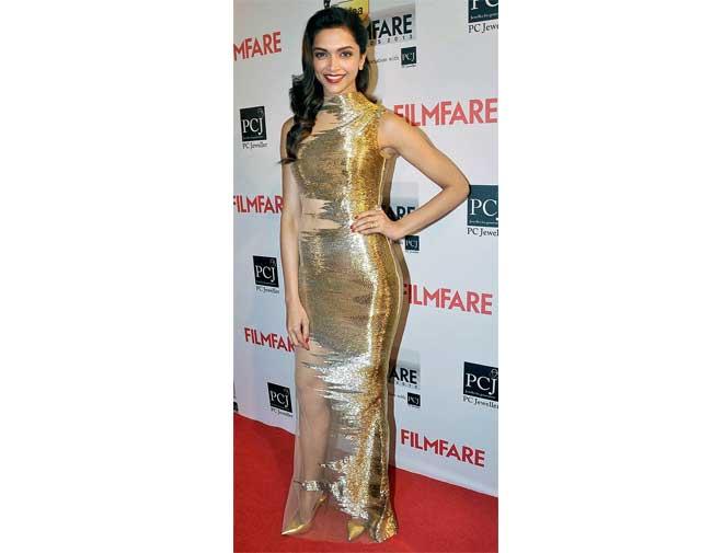 2. Deepika Padukone in Gaurav Gupta Gown