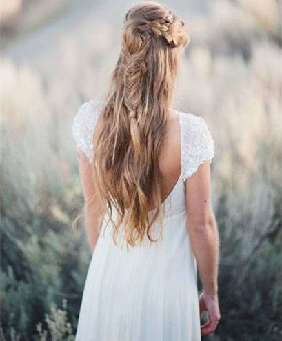 half up French braid hairstyle