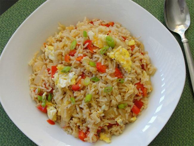 make egg fried rice