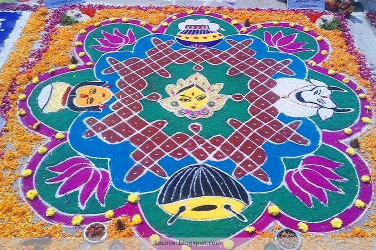 33 Latest And New Sankranthi Rangoli Designs For 2017