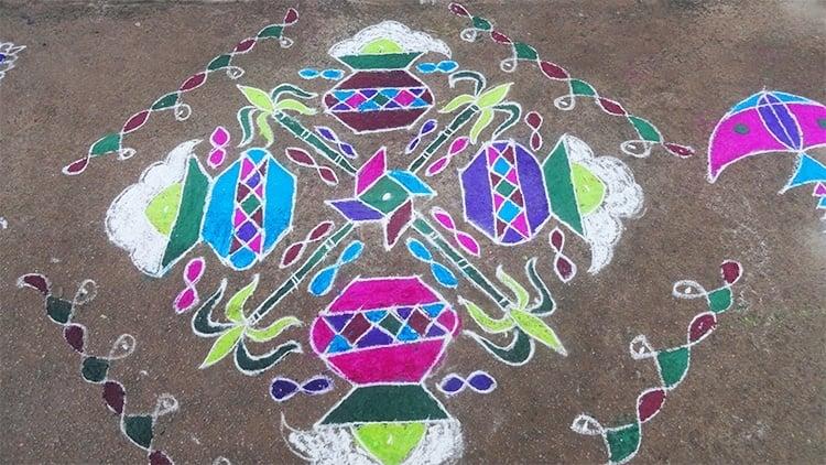 Diseños de Rangoli para Sankranthi
