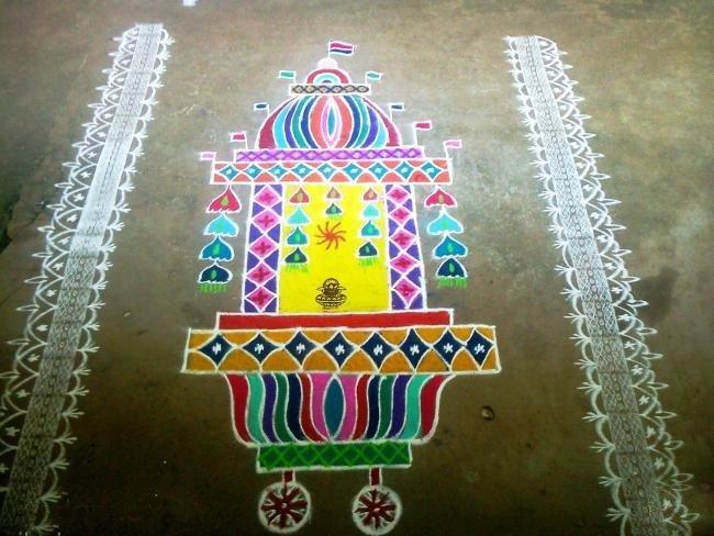Ratham rangoli designs