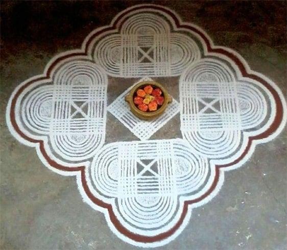 Sankranthi lines rangoli
