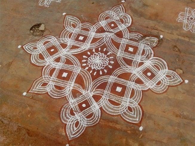 Sankranthi Rangoli With Lines