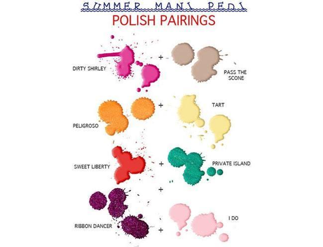 summer mani pedi polish pairings