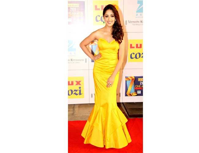 Yami Gautam in Sonakshi Raaj Gown