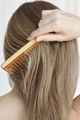 Comb your hair using a wide tooth comb