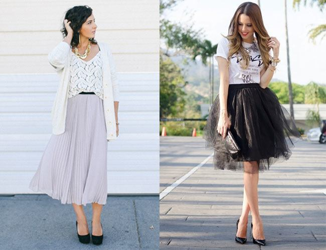 8 Style Tips On How To Wear Midi Skirts