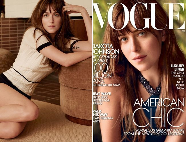 Dakota Johnson Vogue February 2015 cover