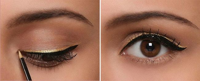 Dual Lining of the Eyeliner