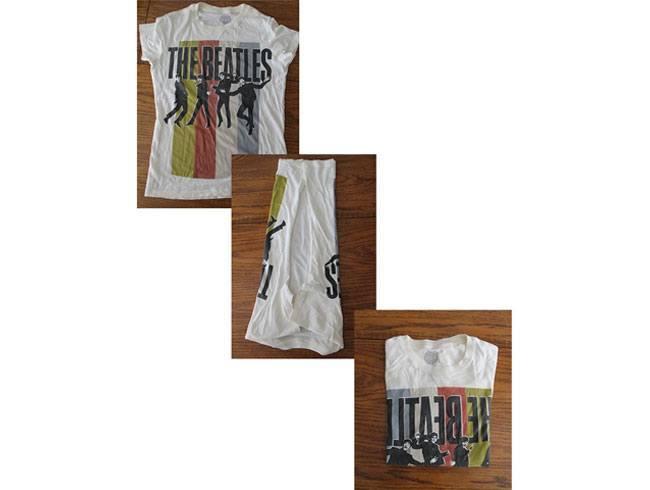 Folding your T-shirt