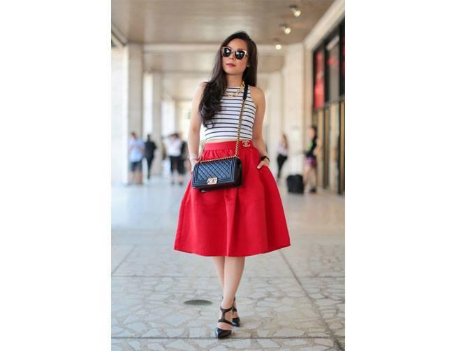 Puffy Midi Skirt