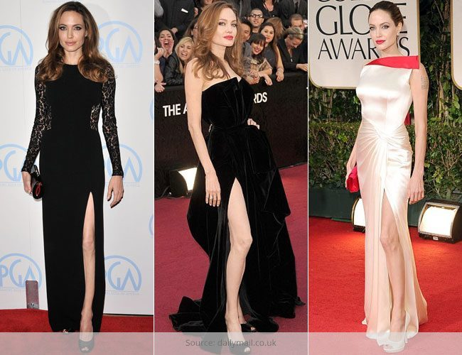 Indian celebrities in a Jolie Slit