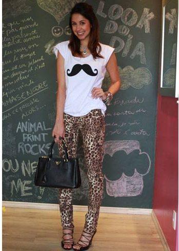 Moustache Print
