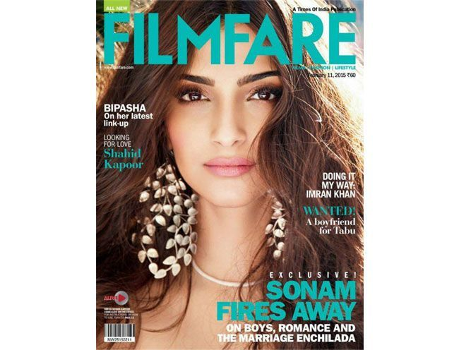 Sonam Kapoor Fires Away On Cover of Filmfare February 2015
