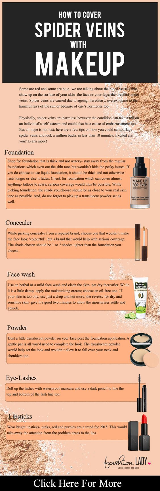Tips And Advice On How to Cover Spider Veins With Makeup .