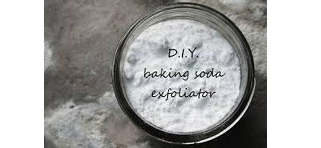 Baking soda for exfoliation