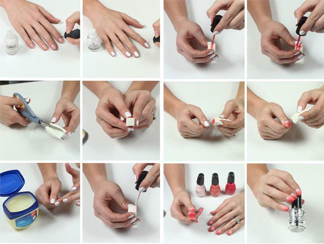 Diy nail art steps ombre images galleries with a bite Nail design ideas to do at home