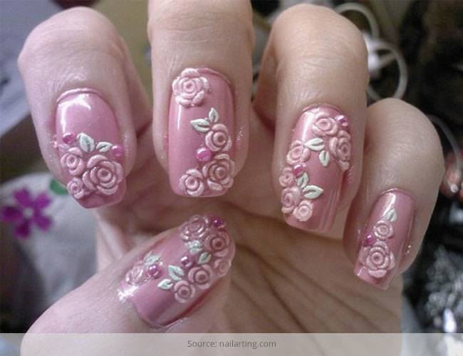 7 flower nail art designs for your inspiration flower nail art designs for your inspiration prinsesfo Image collections