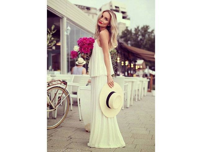 All white look for date