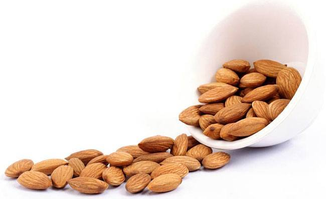 Almonds with skins intact