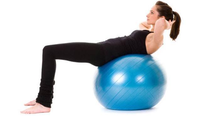 Balance Ball Crunches