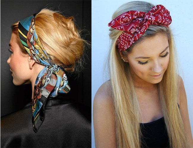 Bandana as a headband